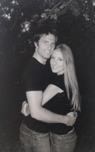 Engagement photo...aaaah we were babies!!